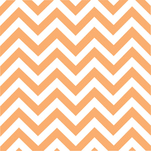 Peach chevron craft  vinyl - HTV -  Adhesive Vinyl -  peach and white large zig zag pattern   HTV96