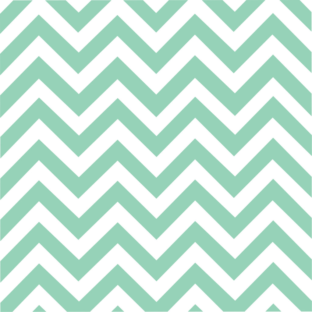 Mint chevron craft  vinyl - HTV -  Adhesive Vinyl -  mint and white large zig zag pattern   HTV99