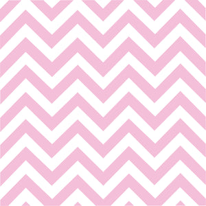 Pink chevron craft  vinyl - HTV -  Adhesive Vinyl -  light pink and white large zig zag pattern   HTV103