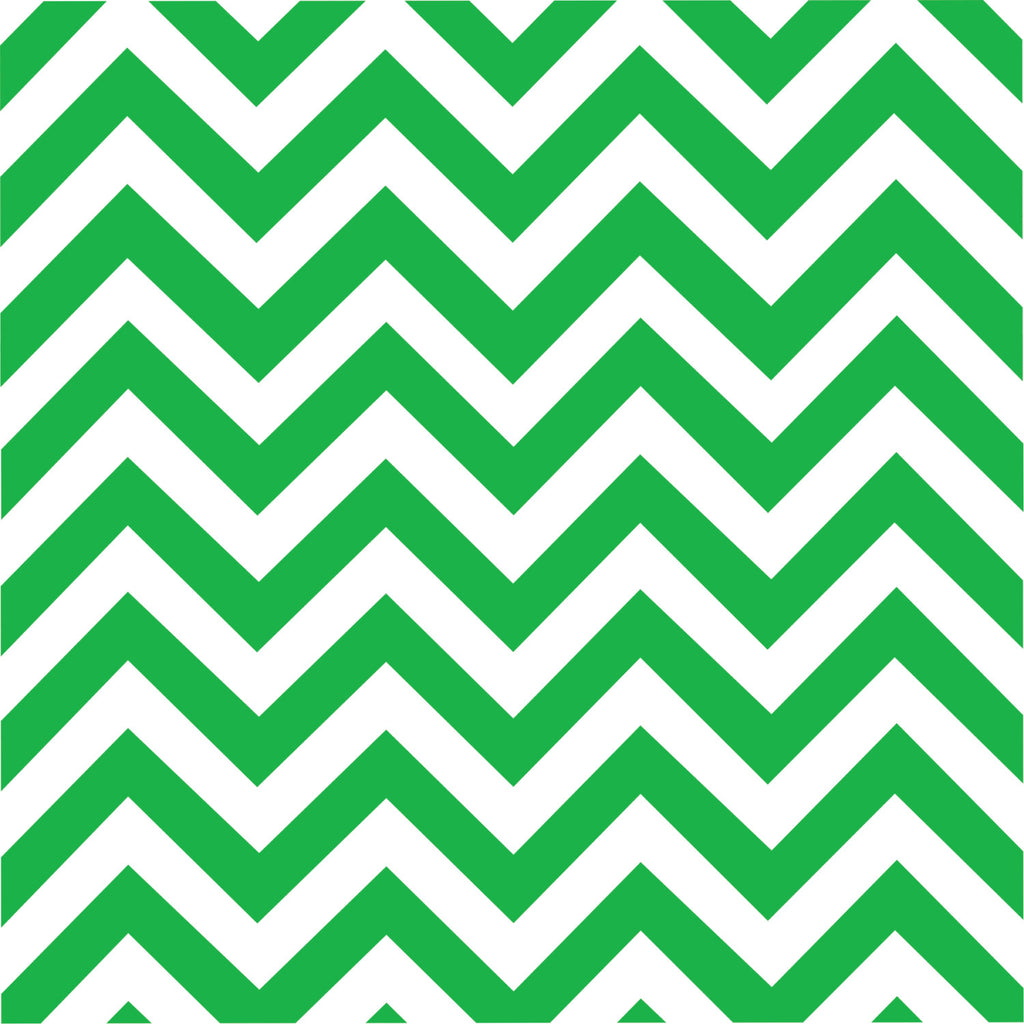 Green chevron craft  vinyl - HTV -  Adhesive Vinyl -  green and white large zig zag pattern   HTV106