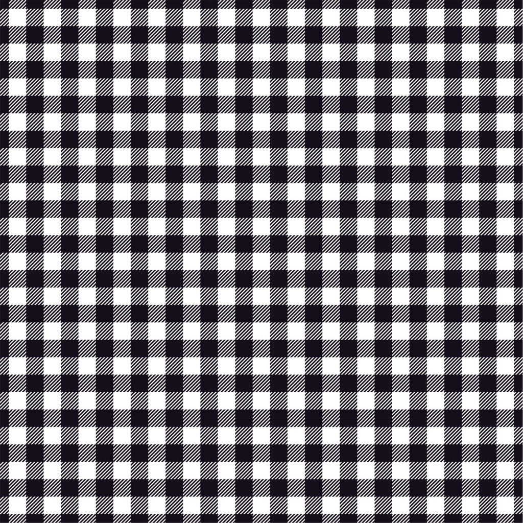 Gingham  craft  vinyl sheet - HTV -  Adhesive Vinyl -  black and white pattern   HTV200 - Breeze Crafts