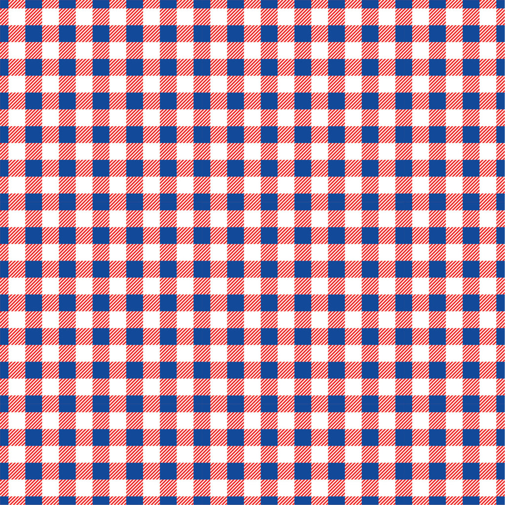 Red white and blue Gingham  craft  vinyl sheet - HTV -  Adhesive Vinyl -  patriotic usa pattern   HTV208