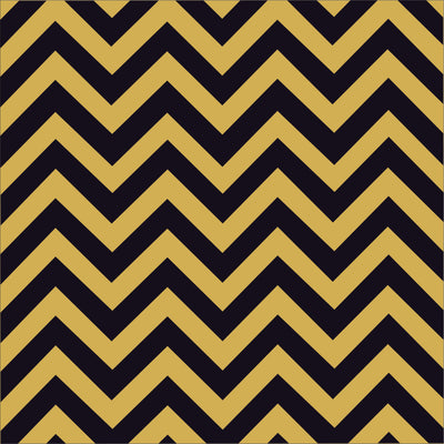 Black and gold chevron craft  vinyl - HTV -  Adhesive Vinyl -  black and gold zig zag pattern   HTV118 - Breeze Crafts