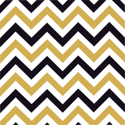 Black, white and gold chevron -HTV-Adhesive-zig zag pattern HTV119 - Breeze Crafts