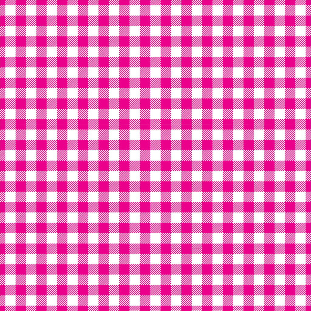 Magenta Gingham  craft  vinyl sheet - HTV -  Adhesive Vinyl -  hot pink and white pattern vinyl   HTV213
