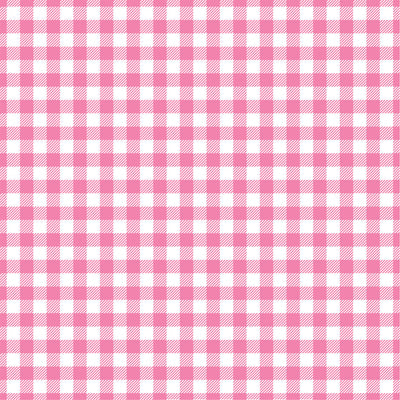 Pink Gingham  craft  vinyl sheet - HTV -  Adhesive Vinyl -  medium pink and white pattern vinyl   HTV215