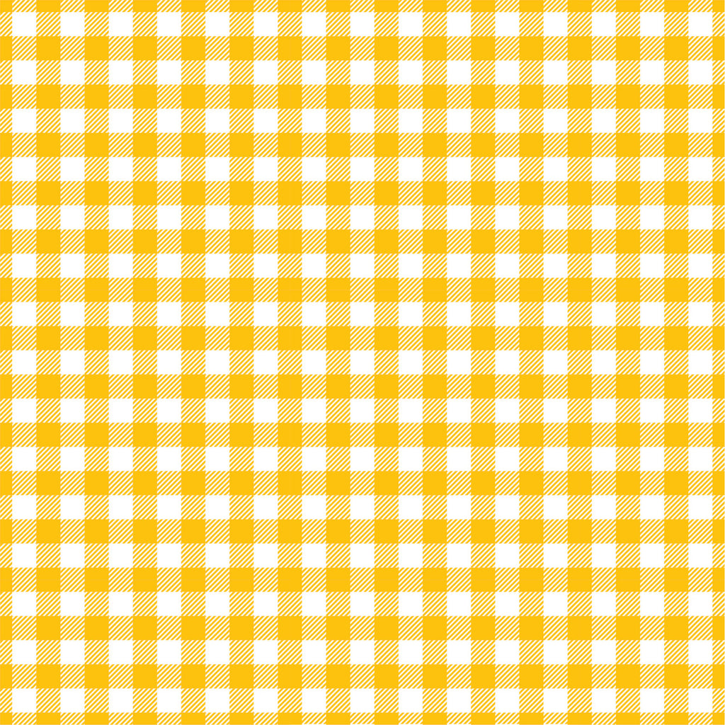 Yellow gold Gingham  craft  vinyl sheet - HTV -  Adhesive Vinyl -  yellowish orange and white pattern vinyl   HTV218