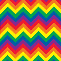 Rainbow chevron craft  vinyl - HTV -  Adhesive Vinyl -  large chevron pattern vinyl   HTV227