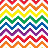 Rainbow  and white chevron craft  vinyl - HTV -  Adhesive Vinyl -  large chevron pattern vinyl   HTV228