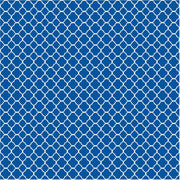 Blue quartrefoil craft  vinyl - HTV -  Adhesive Vinyl -  blue and white pattern vinyl HTV503 - Breeze Crafts