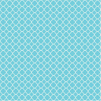 Aqua quarterfoil craft  vinyl - HTV -  Adhesive Vinyl -  aqua and white clover quatrefoil pattern vinyl HTV553 - Breeze Crafts