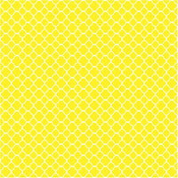 Yellow quatrefoil craft  vinyl sheet - HTV -  Adhesive Vinyl -  yellow and white pattern vinyl HTV520