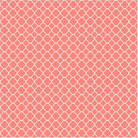 Coral quartrefoil craft  vinyl - HTV -  Adhesive Vinyl -  coral and white pattern vinyl HTV501 - Breeze Crafts