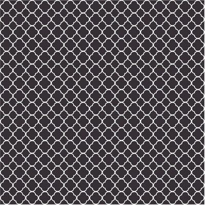 Black quatrefoil craft  vinyl - HTV -  Adhesive Vinyl -  black and white clover pattern vinyl HTV512 - Breeze Crafts