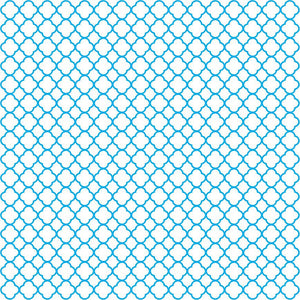 Cyan quartrefoil craft  vinyl - HTV -  Adhesive Vinyl -  white with cyan clover quartrefoil pattern vinyl HTV510 - Breeze Crafts