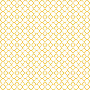 Yellow gold quatrefoil craft  vinyl - HTV -  Adhesive Vinyl -  white with orange-yellow quatrefoil pattern vinyl HTV536