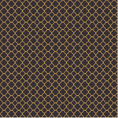 Black and gold quartrefoil craft  vinyl - HTV -  Adhesive Vinyl -  clover quatrefoil pattern vinyl HTV509 - Breeze Crafts