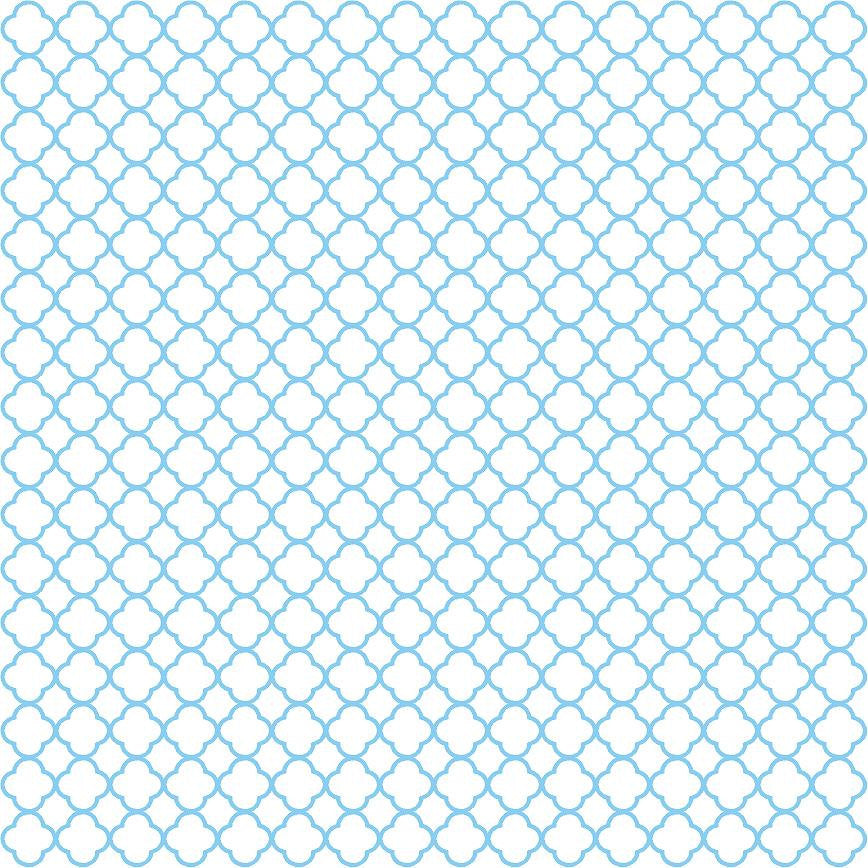 Blue quartrefoil craft  vinyl - HTV -  Adhesive Vinyl -  white with light blue clover quatrefoil pattern vinyl HTV547 - Breeze Crafts