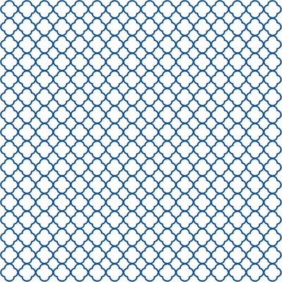 Blue quartrefoil craft  vinyl - HTV -  Adhesive Vinyl -  white with blue clover quatrefoil pattern vinyl HTV546 - Breeze Crafts