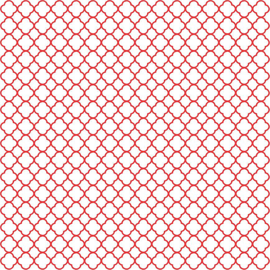 Red quatrefoil craft  vinyl - HTV -  Adhesive Vinyl -  red with white clover quatrefoil pattern vinyl HTV508