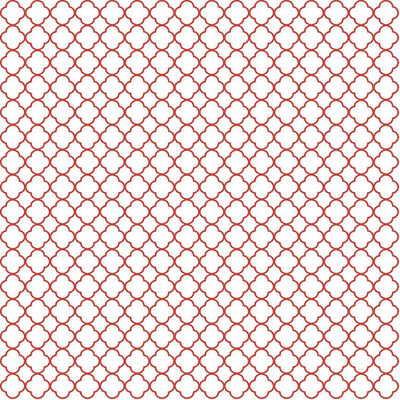 Brick red quartrefoil craft  vinyl - HTV -  Adhesive Vinyl -  white with dark red burgundy clover quatrefoil pattern vinyl HTV532 - Breeze Crafts