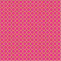Magenta and lime quatrefoil pattern vinyl - HTV - Adhesive Vinyl - dark magenta pink  with lime green clover quatrefoil pattern vinyl HTV526