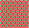 Red with white and green polka dots craft  vinyl - HTV -  Adhesive Vinyl -  large polka dot pattern HTV722
