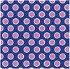 Navy with white and orchid polka dots craft  vinyl - HTV -  Adhesive Vinyl -  large polka dot pattern