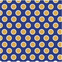 Navy with white and gold polka dots craft  vinyl - HTV -  Adhesive Vinyl -  large non-metallic gold polka dot pattern