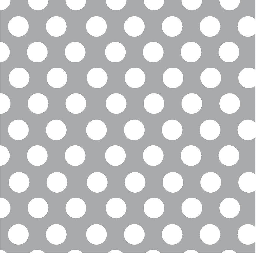 Gray with white dots craft  grey vinyl - HTV -  Adhesive Vinyl -  large white polka dot pattern HTV719 - Breeze Crafts