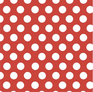 Brick red with white dots craft  burgundy dark red vinyl - HTV -  Adhesive Vinyl -  large white polka dot pattern HTV740 - Breeze Crafts