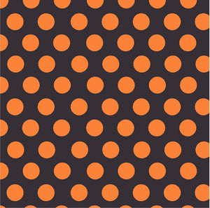 Black with orange dots craft  vinyl - HTV -  Adhesive Vinyl -  large polka dot pattern  Halloween HTV703 - Breeze Crafts