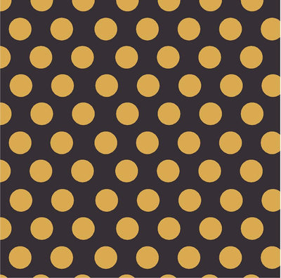 Black with gold dots craft  vinyl - HTV -  Adhesive Vinyl -  large polka dot pattern HTV723 - Breeze Crafts