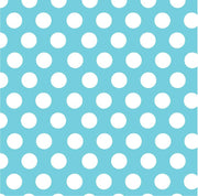 Aqua with white dots craft  vinyl - HTV -  Adhesive Vinyl -  large white polka dot pattern HTV729 - Breeze Crafts