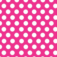 Magenta with white dots craft  vinyl - HTV -  Adhesive Vinyl -  large dark hot pink with white polka dot pattern HTV718