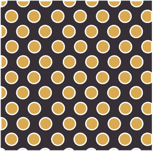 Black with gold and white dots craft  vinyl - HTV -  Adhesive Vinyl -  large polka dot pattern HTV712 - Breeze Crafts