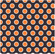 Black with orange and white dots craft  vinyl - HTV -  Adhesive Vinyl -  large polka dot pattern  Halloween HTV720 - Breeze Crafts
