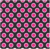 Black with magenta and white dots craft  vinyl - HTV -  Adhesive Vinyl -  large polka dot pattern HTV726 - Breeze Crafts