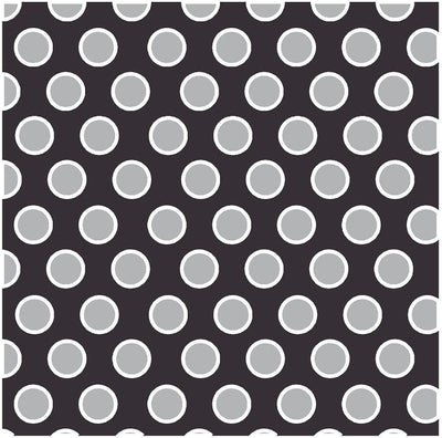 Black with gray and white dots craft  vinyl - HTV -  Adhesive Vinyl -  large polka dot pattern HTV716 - Breeze Crafts