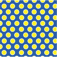 Blue with yellow and white dots craft  vinyl - HTV -  Adhesive Vinyl -  large polka dot pattern HTV710 - Breeze Crafts