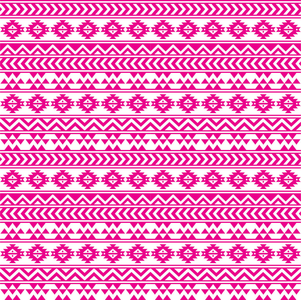 Magenta and white tribal pattern craft  vinyl - HTV -  Adhesive Vinyl -  Aztec Peruvian pattern HTV926