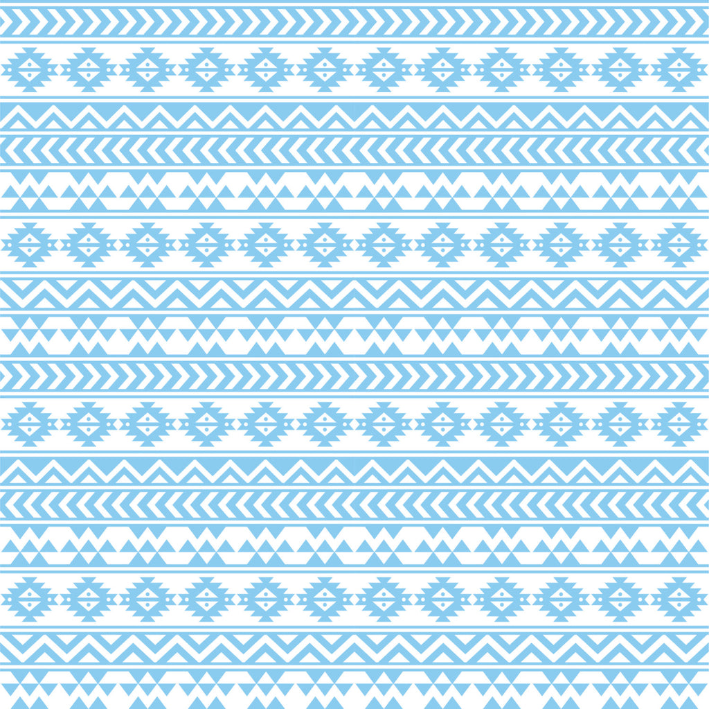 Light blue and white tribal pattern craft  vinyl - HTV -  Adhesive Vinyl -  Aztec Peruvian pattern HTV924