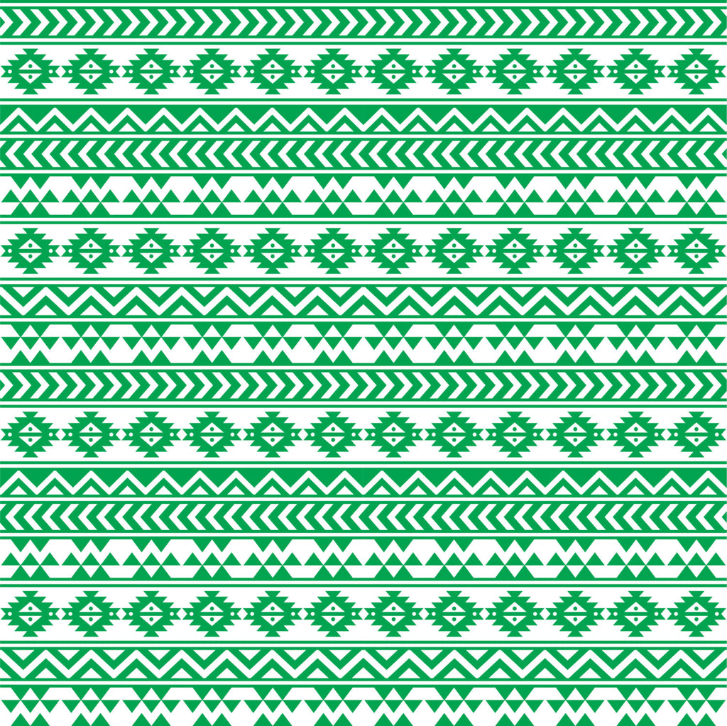Green and white tribal pattern craft vinyl - HTV -  Adhesive Vinyl -  Aztec Peruvian pattern HTV911