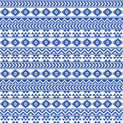 Blue and white tribal pattern craft vinyl - HTV -  Adhesive Vinyl -  Aztec Peruvian pattern HTV912 - Breeze Crafts