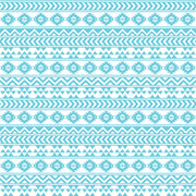 Aqua and white tribal pattern craft  vinyl - HTV -  Adhesive Vinyl -  Aztec Peruvian pattern HTV914 - Breeze Crafts