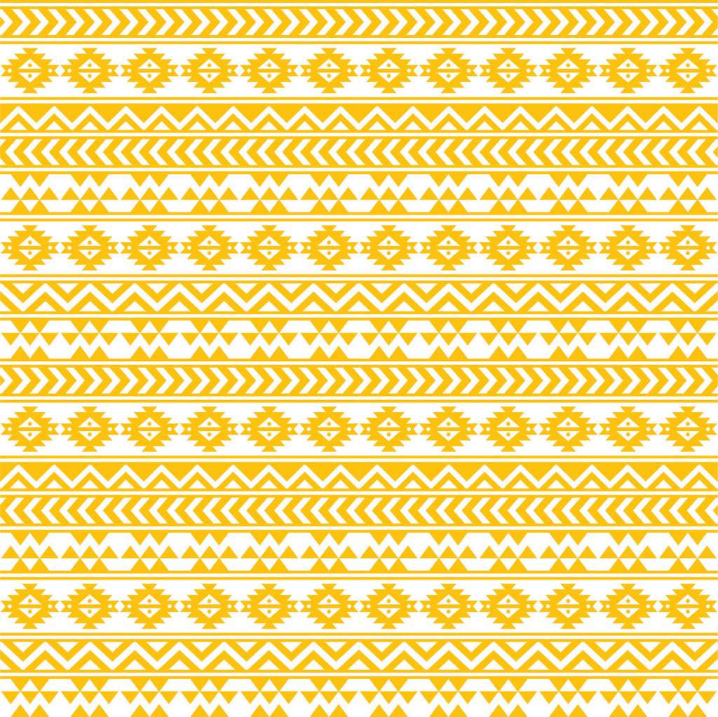 cc25f28a68 Yellow gold and white tribal pattern craft vinyl - HTV - Adhesive Vinyl -  Aztec Peruvian