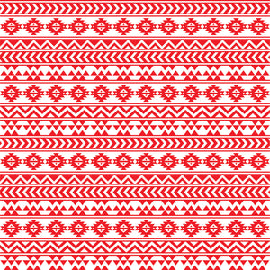 Red and white tribal pattern craft  vinyl - HTV -  Adhesive Vinyl -  Aztec Peruvian pattern HTV901