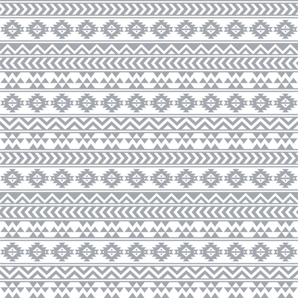 Gray and white tribal pattern craft  vinyl - HTV -  Adhesive Vinyl -  Aztec Peruvian pattern grey HTV923 - Breeze Crafts