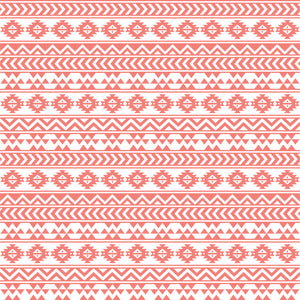Coral and white tribal pattern craft  vinyl - HTV -  Adhesive Vinyl -  Aztec Peruvian pattern HTV904 - Breeze Crafts