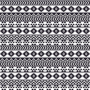 Black and white tribal pattern craft vinyl - HTV -  Adhesive Vinyl -  Aztec Peruvian pattern HTV907 - Breeze Crafts